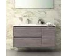 STANO Conjunto TAGUS, Mueble de lavabo 120cm, espejo, aplique led y columna