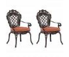 BELIANI Conjunto de 2 sillas de jardín marrón LIZZANO - BELIANI