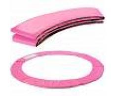 Arebos Almohadillas de seguridad Cojín Trampolín 244 cm rosa