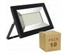 EFECTOLED Pack Foco Proyector LED Solid 30W (10 un) Blanco Cálido 3000K