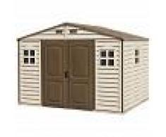 DURAMAX Caseta de jardín de PVC: 247 x 324 x 321 cm. Superficie 8,02m². Duramax