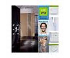 LOOKSHOP Grifo de ducha con ducha de lluvia de 20 LED, cabezal de ducha y