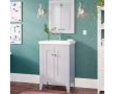 KASSIA Conjunto de baño Boho Mueble a suelo + lavabo + espejo - estilo clásico