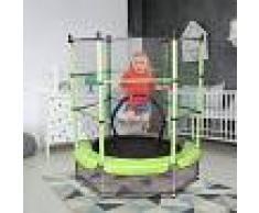 COSTWAY Trampolín Infantil Cama Elástica de Jardín Parque con Red de Seguridad