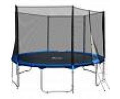 TECTAKE Trampolín con red de seguridad, variante 1 - cama elástica para niños,