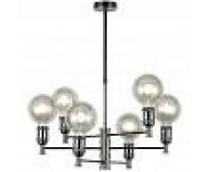 CRISTALRECORD Lámpara de araña Miyako Grafito (6 luces) - CRISTALRECORD