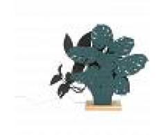 QAZQA Diseño Lámpara de mesa orgánica con 2 tonos de azul LED