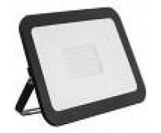 EFECTOLED Foco Proyector LED Slim Cristal 100W Negro Blanco Frío 6000K-6500K