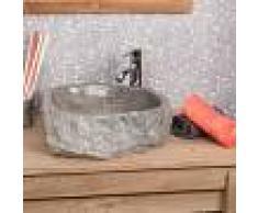 WANDA COLLECTION lavabo sobre encimera grande para cuarto de baño ROCA de mármol gris