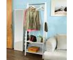 SoBuy® Moderna estantería escalonada con 2 estantes, Estantería de