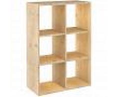 ASTIGARRAGA KIT LINE Estantería Dinamic modular con 6 cubos de madera maciza de pino