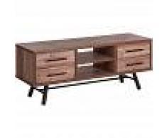 BELIANI Mueble TV madera clara ATLANTA - BELIANI