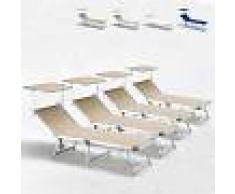 BEACH AND GARDEN DESIGN Tumbonas de playa plegables aluminio toldo parasol GABICCE Oferta 4