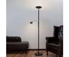 LINDBY Lámpara LED de pie Malea con luz de lectura, negra - LINDBY