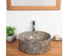 WANDA COLLECTION lavabo encimera de mármol para cuarto de baño Ulysse 40 gris - WANDA