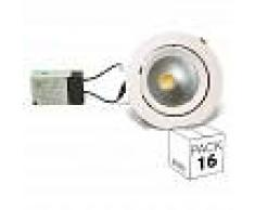 BARCELONA LED Pack ahorro 16 downlight LED circular empotrable basculante 32W 60º