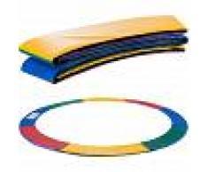 Arebos Almohadillas de seguridad Cojín Trampolín 305cm Multicolor