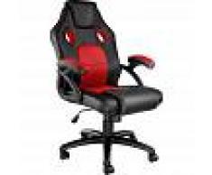 TECTAKE Silla de oficina Racing Mike - silla de escritorio tipo gamer, silla de