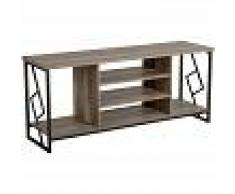 BELIANI Mueble TV en madera oscura FORRES - BELIANI
