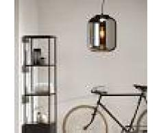 QAZQA Retro/Vintage Lámpara colgante de diseño negra con cristal