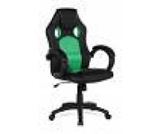 BELIANI Silla de oficina - Giratoria - Piel sintética - Verde - REST - BELIANI
