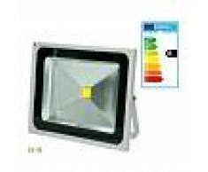 ECD GERMANY Reflector LED foco proyector faro 50W exterior lámpara luz cálida
