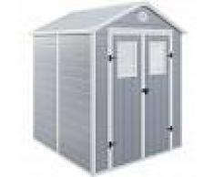 HABITAT ET JARDIN Caseta de jardín Texas - 3.57 m² - 190 x 188 x 225 cm - Gris - HABITAT