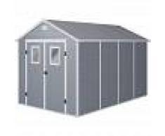 HABITAT ET JARDIN Caseta de jardín Texas - 8.82 m² - 368 x 242 x 239 cm - Gris - HABITAT