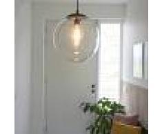 QAZQA Moderno Lámpara colgante moderna transparente de 35 cm - PALLON