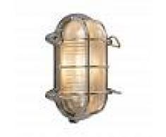 QAZQA rústico Aplique y plafón cromo 23 / 16.5 cm IP44 - Nautica 1 oval