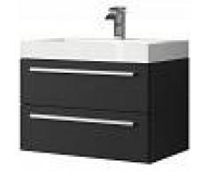 BADPLAATS Muebles de baño Marseille 60cm madera negra- armario de base lavabo