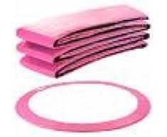 Arebos Almohadillas de seguridad Cojín Trampolín 366 cm rosa