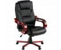 TECTAKE Sillón de oficina con revestimiento de cuero sintético - silla de