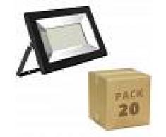 EFECTOLED Pack Foco Proyector LED Solid 10W (20 un) Blanco Neutro 4000K