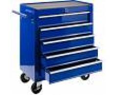 Arebos Carro de Taller caja de Herramientas 5 cajones Azul