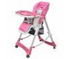 VIDAXL Trona de bebé Deluxe de altura ajustable rosa - VIDAXL