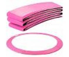 Arebos Almohadillas de seguridad Cojín Trampolín 396 cm rosa