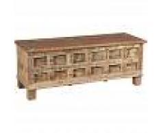 BISCOTTINI Cofre, baúl, banco, contenedor, estuche, original antiguo en madera de