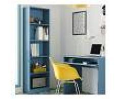 HD DECO Estantería Salon Vertical Acabado Azul, Medidas: 180 cm (Alto) x 52 cm