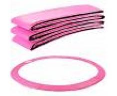 Arebos Almohadillas de seguridad Cojín Trampolín 457 cm rosa