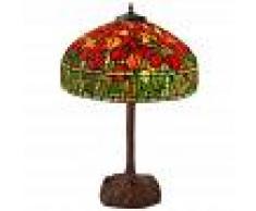 ARTEDALMONDO Lámpara de mesa estilo Tiffany con panta cm H76,5xØ55 Artedalmondo