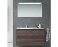 STANO Conjunto TUELA, Mueble de lavabo 100cm y espejo TEA - STANO
