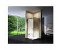 BERNSTEIN Mampara de ducha, cabina de ducha de esquina, NANO, EX403, 100 x 100 x