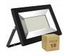 EFECTOLED Pack Foco Proyector LED Solid 100W (10 un) Blanco Cálido 3000K