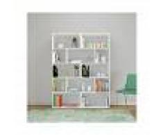 HOMEMANIA Libreria Scale Mueble de Pared - Estanteria para Libros - con