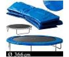 MONZANA Deuba Cojín de protección Azul de PVC para cama elástica trampolín de