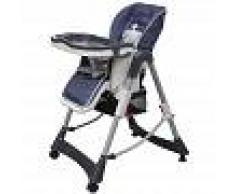 VIDAXL Trona de bebé Deluxe de altura ajustable azul oscuro - VIDAXL