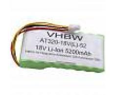vhbw Li-Ion batería 6800mAh para cortacésped robot cortacésped como
