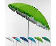 BEACHLINE Sombrilla de playa antiviento protección UV 220 cm PORTOFINO Verde