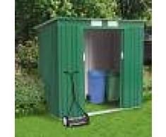 SOANA GARDEN SHED Caseta de lámina galvanizada verde jardín herramientas MEDIUM 194x121